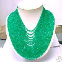 1050.71 Cts. NATURAL COLUMBIAN GREEN EMERALD NECKLACE