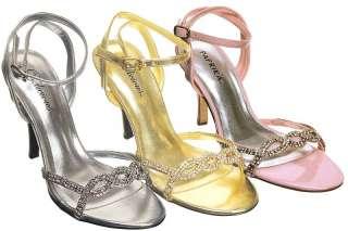 New,Womens Sexy rhinestone prom party dress sandals,IM