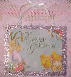 BEAUTIFUL LOT of VTG STYLE EASTER EGGS EMBROIDERED FLOWERS & SEQUINS