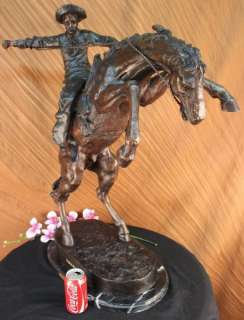 Frederic Remington The Bronco Buster Bronze Marble Sculpture Statue