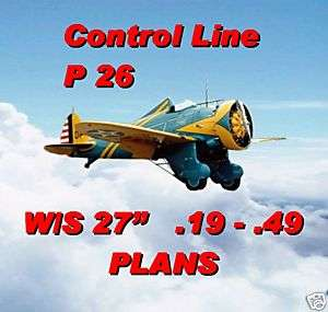 CONTROL LINE SCALE MODEL AIRPLANE PLANS P26 NOTES & F/S PLANS