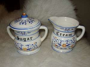 RARE CREAM & SUGAR SET ROYAL SEALY HERITAGE JAPAN NICE!