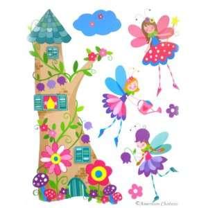 Kids Room Fairies Castle Wall Mural Sticker Decal