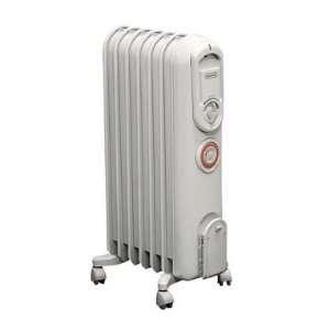 Delonghi Vento Oil Filled Radiator Heater 1500 W 23.23 in. Hx15.57 in