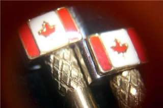 Cribbage Board Pegs 2 Flag Of Canada Brass/Stainless