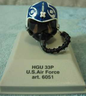 Armour Pilot Helmet U.S. Air Force Die Cast 18 Scale