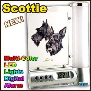 DOGS Scottie Photo Frame Digital DOG Alarm Clock Light
