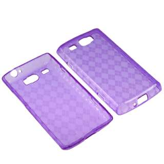 TPU Gel Skin Cover Case For AT&T Samsung Focus Flash i677 + LCD Guard