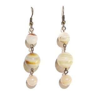 The Black Cat Jewellery Store Calcite & Brass Dangly Earrings Jewelry