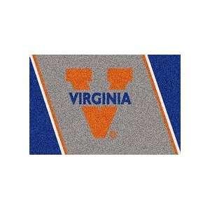 Virginia Cavaliers Orange V 4 x 6 Team Door Mat