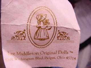 COTTON TOP CHERISH DOLL BY LEE MIDDLETON  CETIFICATE BOX 1987