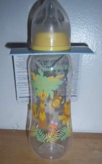 JUNGLE PALS SAFARI 8oz. FEEDING BOTTLE, Lion, Zebra, Hippo, Baby