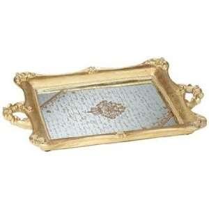 Victoria Small Antique Gold Mirrored Tray