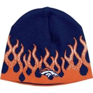 Denver Broncos Reebok NFL Flame Cuffless Knit Cap Sports