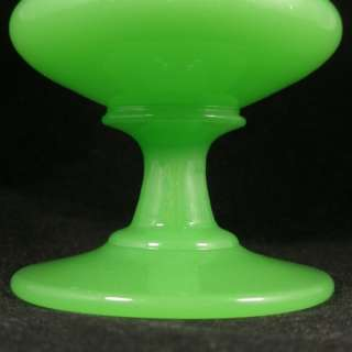 Victorian Antique Opaque Jade Green Uranium Glass Vase