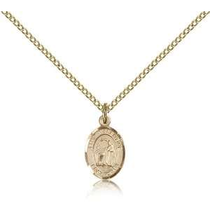 Gold Filled St. Saint Valentine of Rome Medal Pendant 1/2