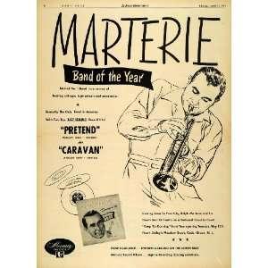 Ad Mercury Ralph Marterie Big Band Pretend Caravan   Original Print Ad