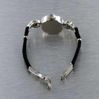 Vintage 14k White Gold & Diamonds Croton Ladies Swiss Watch. No