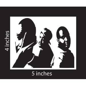 De La Soul Sticker Cut Vinyl Decal White