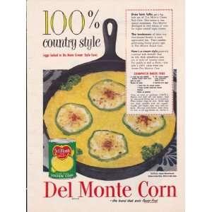 Del Monte Golden Cream Style Corn 1952 Original Vintage