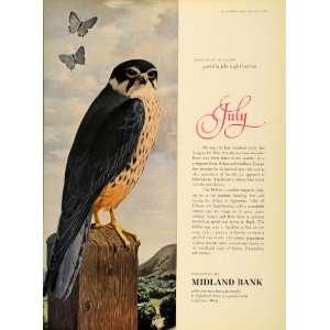 Ad Midland Bank John Leigh Pemberton Hobby Falcon   Original Print Ad