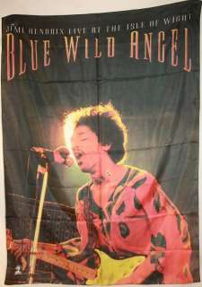 Jimi Hendrix Blue Wild Angel Cloth Poster Flag Tapestry