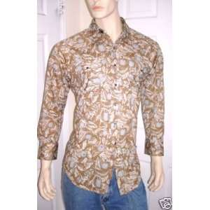 LEE Authentic Western Snap Button Down Shirt Medium LEE Books
