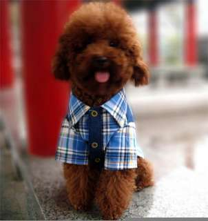 FORDOGS Pet Dog Clothes Jean Blue Shirt Puppy Costume Apparel