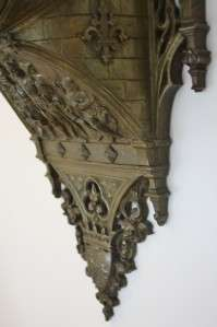 C1850 FRENCH GOTHIC REVIVAL JAPY FRERES BRONZE CARTEL CLOCK LOUIS
