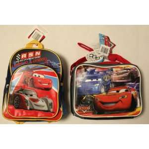 Disney Cars 2 Mini Backpack + Lunch Bag SET   3
