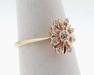 Estate Genuine Diamonds Solid 10k Yellow Gold Ring FREE Sizing