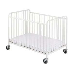 StowAway Steel Folding Crib (w/ Mattress) Baby