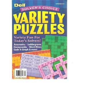 Dell Solvers Choice Variety Puzzles (September 2011