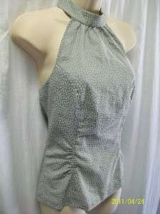 GUESS gray stretch sexy halter top blouse M~NWT