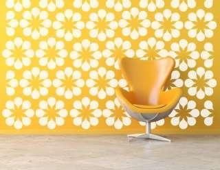 Mural Wall Decal Set Botanical Modern Retro Flower Wallpaper