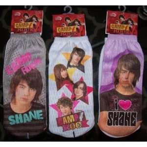 3 Pair Camp Rock Disney Ladies Socks Sz 9 11 New W/tags