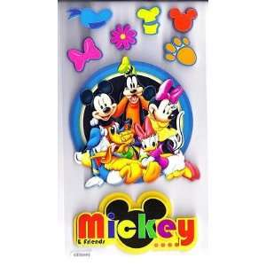 DISNEY   MICKEY & FRIENDS  8 Pc Dimensional Stickers by