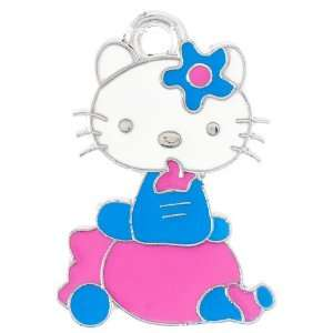 12X DIY Jewelry Making Sitting Hello Kitty enamel charm