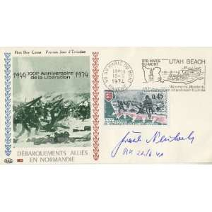Frank Neuber WWII German Pilo Auographed Cover