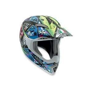 AGV MT X HELMET   KARMA (MEDIUM) (BLUE/GREEN): Automotive