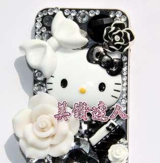 Hello Kitty Black&White DIY case Kit for iphone4 Bling