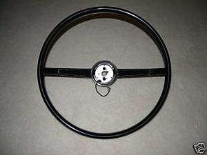 1965 Dodge Plymouth A 990 BLACK Steering Wheel 2 Spoke