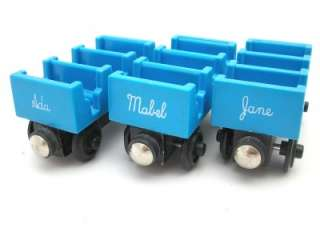 ADA MABEL & JANE Thomas Tank Engine Wooden Train Passenger Car Set
