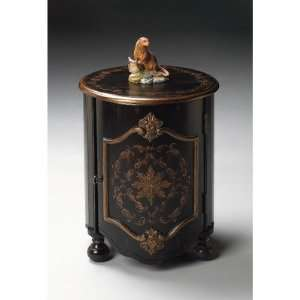 Artists Originals Drum End Table in European Black Furniture & Decor