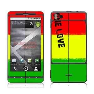 Motorola Droid X Rasta Reggae One Love Red Gold Green skins skin kit