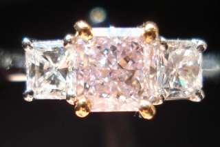 GIA Fancy Lt Pinkish Purple Radiant Diamond   MOVIE R1342 DBL