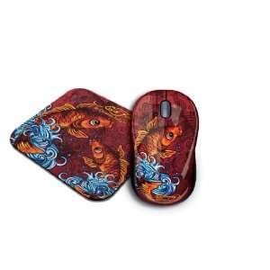 Ed Hardy Koi Fish Cable Mouse and Pad (2 in 1 Pack): Electronics