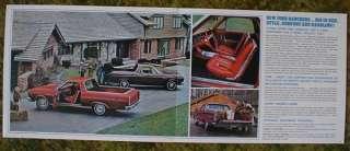 1966 Ford Truck Ranchero Pickup Sales Brochure 66
