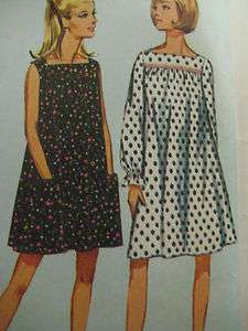 Simplicity 6877 SQUARE NECKLINE DRESS Sewing Pattern Women Size 16