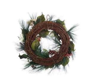 24 Glitter Hydrangea & Pine Christmas Wreath Valerie Parr Hill